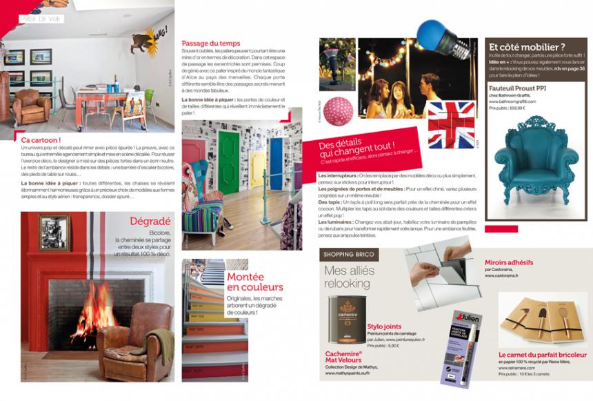 cr ation graphique mise en page d 39 un magazine bimensuelle new d co magazine de 52 pages au. Black Bedroom Furniture Sets. Home Design Ideas